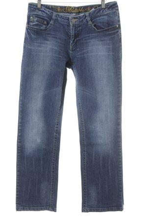 Multiblu Straight-Leg Jeans graublau-weiß Casual-Look