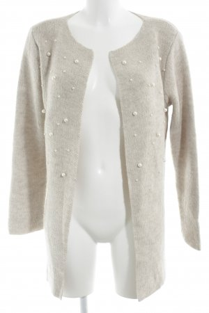 Multiblu Strickjacke beige-creme Casual-Look