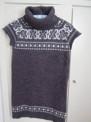 Multiblu Short Sleeve Sweater brown violet-dark violet mixture fibre