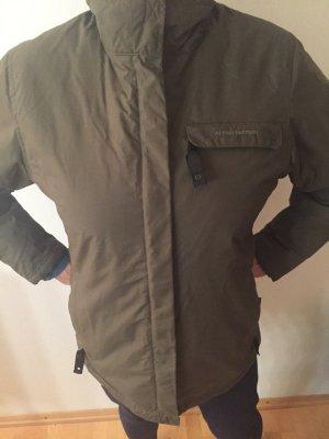 Multifunktionale, khakifarbene Outdoor-Jacke, Gr.38
