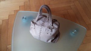 Handbag light brown-gold-colored leather