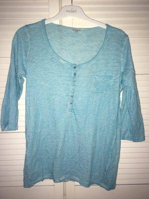 Munich Freedom 3/4 Arm Hanley-Shirt mit Brusttasche in türkis Gr. M