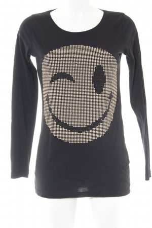munich freedom Longsleeve schwarz-goldfarben Comic-Look