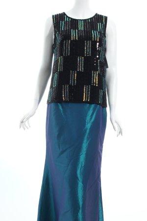 Murek Abendkleid schwarz-petrol Eleganz-Look