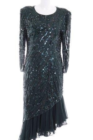 Murek Fashion Vestido de lentejuelas petróleo elegante