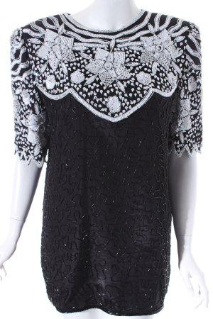 Murek Fashion Shirt schwarz-weiß abstraktes Muster Elegant