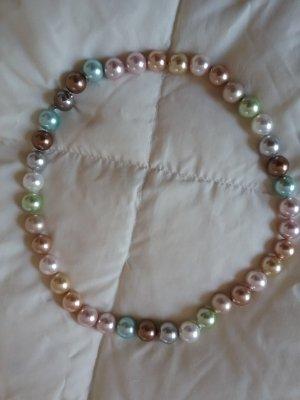 Muschel Perlenkette in pastell farben mit Magnetverschluss 50 cm