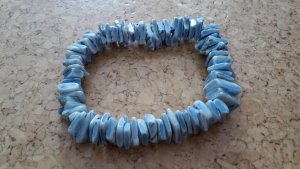 Muschelarmband blau-