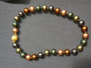 Pfeffinger Collier de perles multicolore