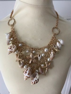 Shell Necklace white-sand brown