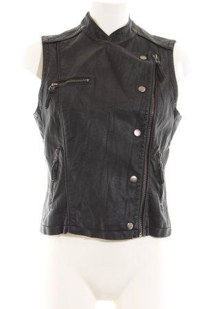Muse Biker Vest black casual look
