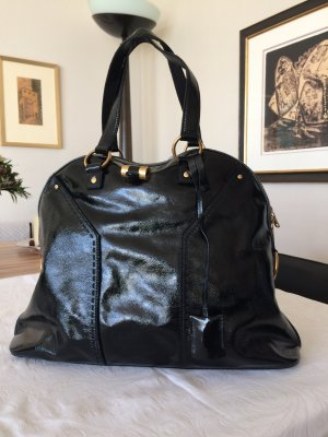 Musebag in schwarzem Lackleder von Yves Saint Laurent