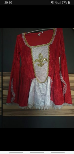 Tailleur bianco-rosso