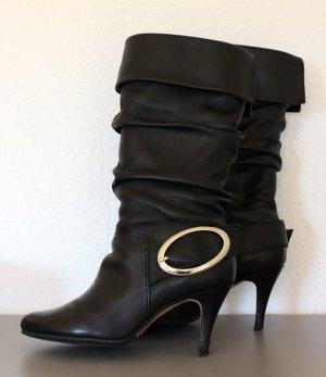 Musketier-Stiefel mit Schnalle schwarz Gr. 37