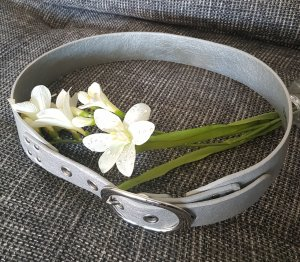 Belt silver-colored