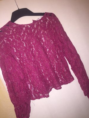 Mango Blouse magenta-gold-colored