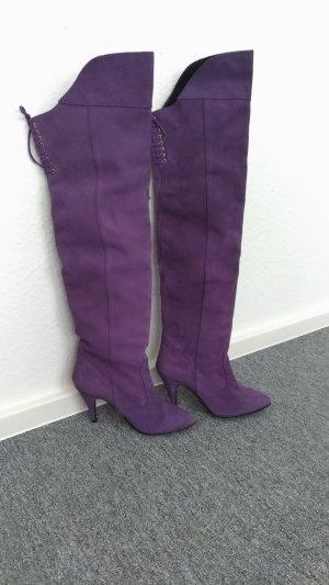 Stivale cuissard lilla-viola Scamosciato