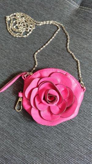 Minitasje roze Leer