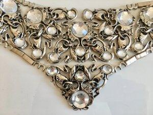 ❤️ MUST HAVE Statement Taillengürtel Jose Cotel Paris Silber facettierte Steine vintage Gürtel Glitter Metall