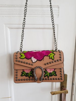 Handbag beige-dusky pink