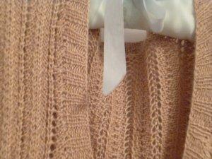 Cárdigan de punto fino marrón claro-beige Viscosa