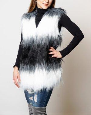 Must Have! Webpelzweste Fellweste Fake Fur Weste tricolor