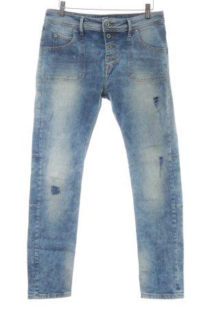 Mustang 7/8 Jeans himmelblau Used-Optik