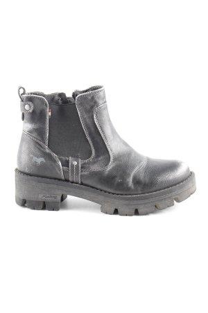 Mustang Ankle Boots dunkelgrau-silberfarben Casual-Look