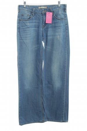 Mustang Boot Cut Jeans blau Used-Optik