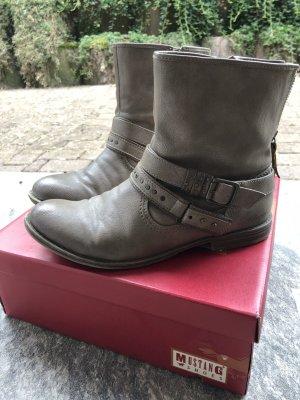 Mustang Shoes Tronchetto marrone-grigio-beige Finta pelle