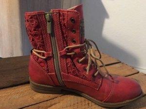 Mustang Boots Stiefeletten rot Größe 36