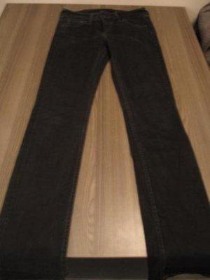Mustang Damen Jeansröhre  schwarz  mit Elasthan - Gr. 26 / L 32