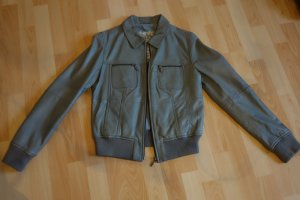 Mustang Leather Jacket grey