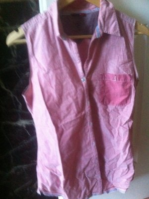 Mustang Chemise à manches courtes rose coton