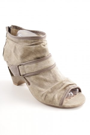 Mustang High Heel Sandal grey brown casual look