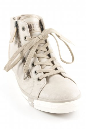 Mustang High Top Sneaker beige Casual-Look