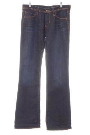 Mustang Pantalon taille basse bleu foncé Aspect de jeans