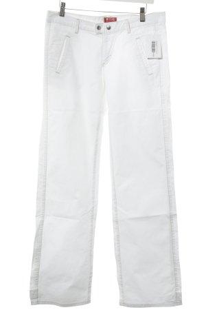 Mustang Hüfthose weiß-goldfarben Jeans-Optik