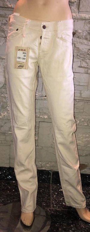 Mustang Jeans de moto beige clair coton