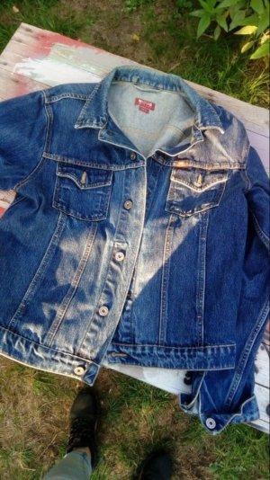 Mustang Jeans Jacke destroyed oversice Größe L Blogger