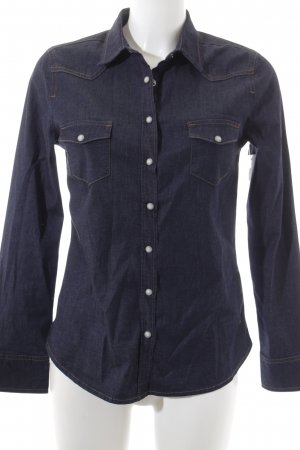 Mustang Jeansbluse dunkelblau Casual-Look