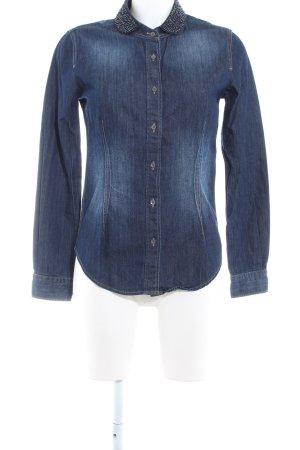 Mustang Denim Shirt dark blue jeans look