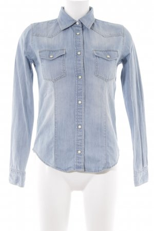 Mustang Jeanshemd himmelblau Country-Look