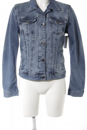 Mustang Jeansjacke blau Washed-Optik