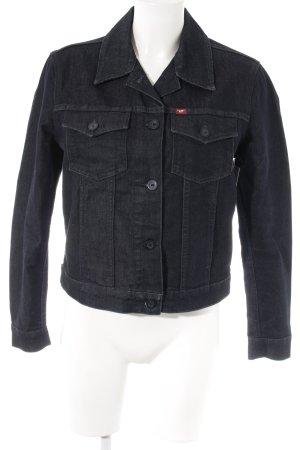 Mustang Jeansjacke dunkelblau meliert Casual-Look