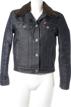 Mustang Jeansjacke dunkelblau-schwarzbraun Casual-Look