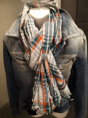 Mustang Fringed Scarf multicolored cotton