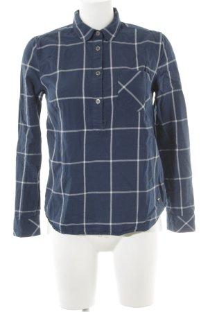 Mustang Geruite blouse donkerblauw-wolwit geruite print simpele stijl