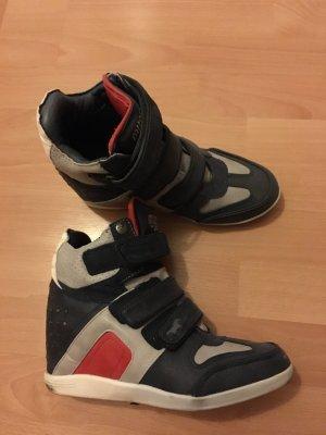 Mustang Keilsneaker Sneaker 38 neuwertig blau weiß rot Nieten Turnschuhe