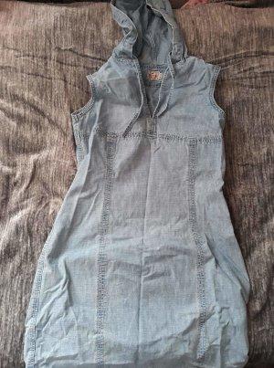 Mustang Hooded Dress azure cotton